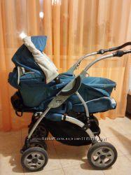 Универсальная коляска трансформер 2 в 1 чико chiko 6 wd синего цвета