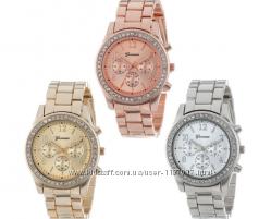 Кварцевые женские часы Geneva swarovski Сезонная Распродажа
