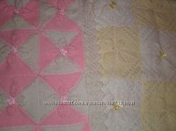 2 пледа можно на выписку, коляску, цвет розовый и желтый