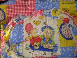 Защита на детскую кровать, балдахин и карман с мишками очень симпатичными