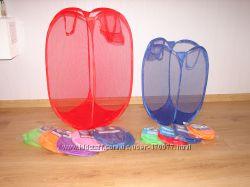 Увеличенного размера сетка корзина для игрушек и белья