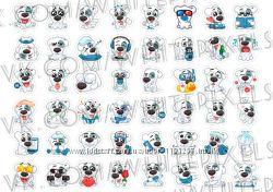 Стикеры Наклейки - Набор Спотти  48 Стикеров