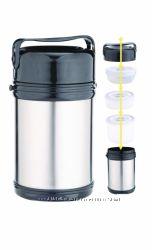 Пищевой термос СВ - 322 на 2 литра в комплекте с судочками и приборами