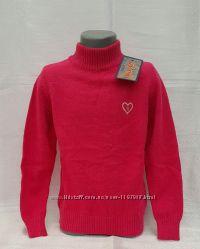 Вязаные свитера с отворотом и со стойкой воротником на девочек 116-152 рост