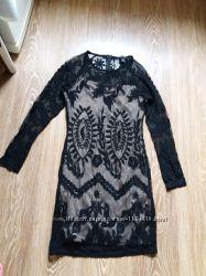 чорное шикарное платье для девушки размера 12 или 44-46