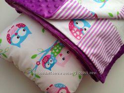 Плюшевое одеялко-плед