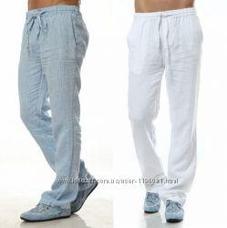 Льняные мужские брюки, шорты из натурального льна. Производство Украина