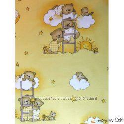 Комплект постели в кроватку ТМASIK 8-ед мишки на лестнице