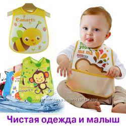Нагрудник для детского сада Слюнявчик для детсада с кармашком