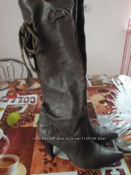 Сапоги кожаные, Италия, кожа, 37р.