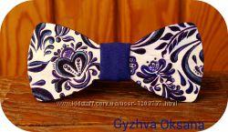 Деревяная галстук бабочка с ручной росписью