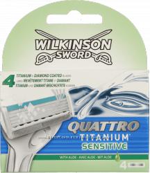 Schick Катріджі для гоління Quattro Titanium 4шт. -тільки оригінал
