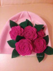 Демисезонные шапочки для девочек
