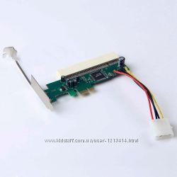 Переходник райзер PCI-E - PCI на ASM1083 с питанием Molex 4 pin