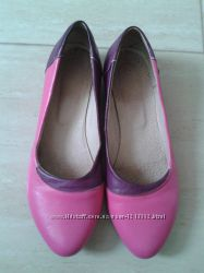 Женские кожаные туфли балетки. Размер 38