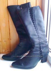 Сапоги зимние кожаные размер 37 в хорошем состоянии