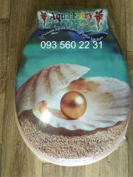 Сиденье мягкое с крышкой для унитаза Aqua Fairy