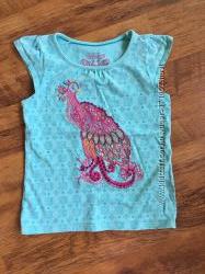 Красивая футболка на девочку 4-5 лет