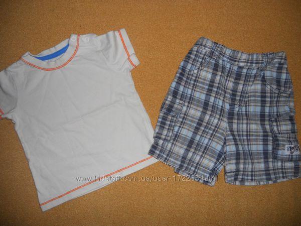 Шорты и футболка Disney Matalan 9-12 мес 74-80  панамка