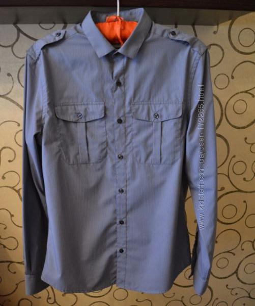 Рубашка приталенная фирменная River Island р. M р. 48-50