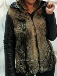 Куртка трансформер из меха койота Эксклюзив С 38-60 размер