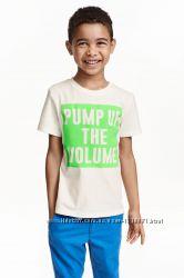 фирменные футболки для мальчиков, H&M  GEORGE