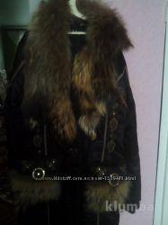 шикарна зимова куртка з натуральною лисицею