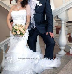 Роскошное свадебное платье фасон Рыбка Годе