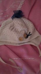 Демисезонная шапочка для маленькой леди плюс  2 подарочка