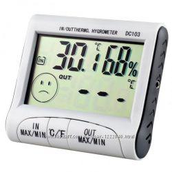 ЖК-цыфровые часы-гигрометр-термометр-будильник-метеостанция