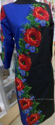 Вышиванка. Заготовка платья ПЛ-16 в комплекте с бисером