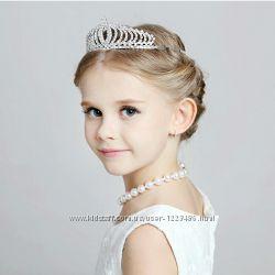 Детская корона, диадема на обруче для девочки от трех лет