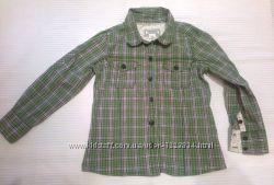 Рубашка-батник Old Navy США, в клетку, на девочку 3-4 лет