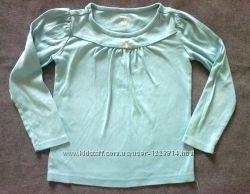 Gymboree США. Мягкая бирюзовая футболка-реглан на девочку 5-6 лет