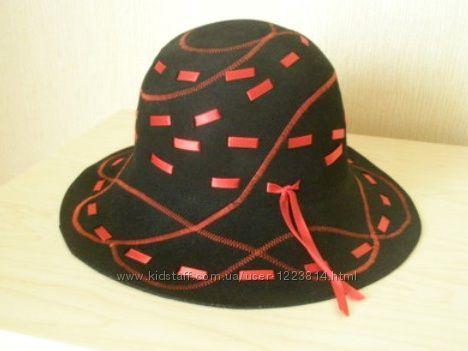 Новая, Польша. Стильная дизайнерская шляпа из кашемира, р. 57