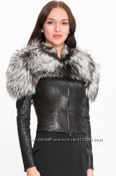 Очень красивая куртка из натуральной кожи и натуральным мехом чернобурки