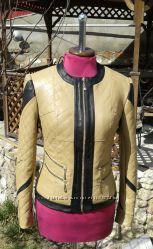 Очень красивая стеганная куртка из натуральной кожи