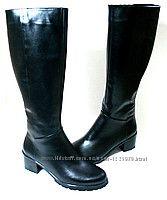 Женские зимние кожаные сапоги 36-40