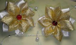 Резинки бантики цветочки