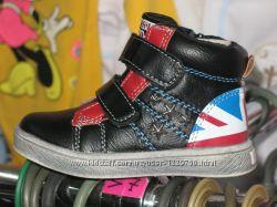 Кеды, кроссовки, ботиночки высокие, Болгария, флаг Великобритании, крепкие