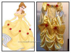 Новогодний наряд принцессы Белль 4-6 лет.