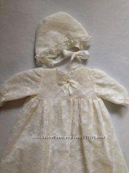 Очень красивое крестильное платье 0-6 мес.
