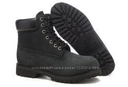 Женские  ботинки Classic Timberland 6 inch Black Boots High Quality