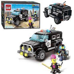 Конструктор Brick Полицейский джип машина 190 дет.