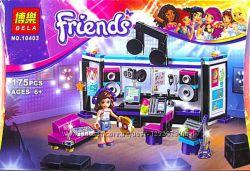 Конструктор для девочек Friends Френдс Студия звукозаписи 175 дет.
