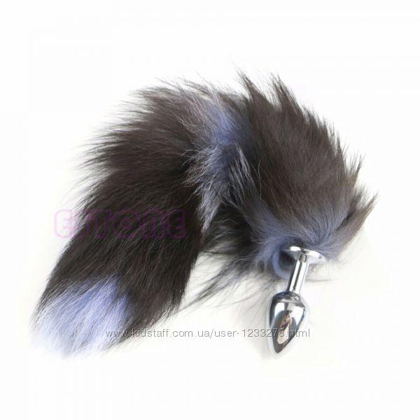 Натуральный лисий хвост Чернобурка