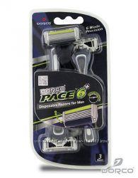 Станки бритвенные DORCO PACE 6 с тримером не сменные картриджы.