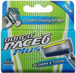 Dorco PACE6 Plus 61. Сменные Кассеты для бритья с триммером