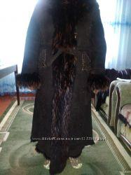 натуральная дубленка-пальто