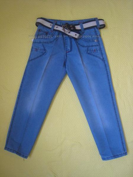 Детские джинсы для мальчика рр. 110-140 Beebaby Бибеби